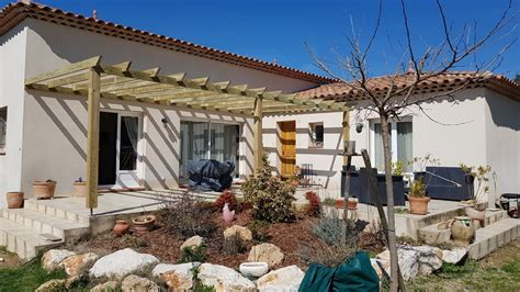 Extension Terrasse Beton by Extension Sur Garage Dalle B 233 Ton Terrasse Pergola Bois