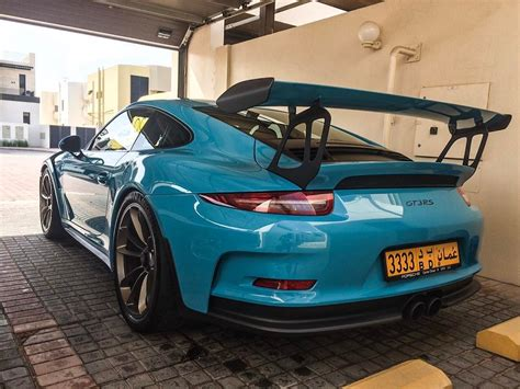 miami blue porsche gt3 rs miami blue porsche 991 gt3 rs from oman porsche