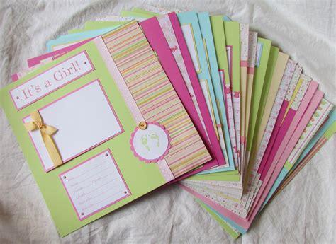 scrapbook album layout first year scrapbook album 20 baby girl 12x12 premade pages