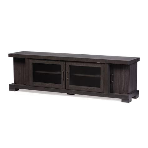 baxton studio unna 70 in tv cabinet baxton studio viveka 70 inch dark brown wood tv cabinet