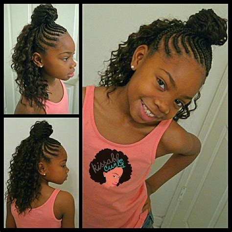 12 year olds with wavey weave braids girls crochet braids style freetress deep twist kissable
