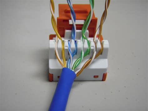 ethernet wall jack wiring how to punch down cat5e cat6 keystone jacks technology