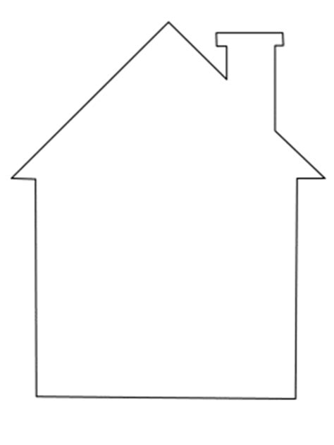 shape house coloring page simple shapes coloring pages