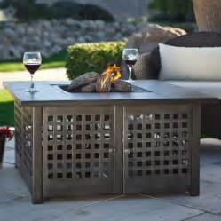 Lp Gas Firepits Uniflame Grey Slate Top Lp Gas Pit With Free Cover Pits At Hayneedle