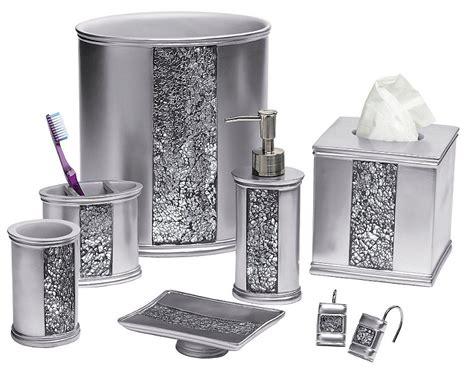sinatra silver bling bath accessories bedbathhomecom