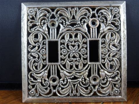 Decorative Switch Covers by Items Similar To Vintage Brass Decorative Light