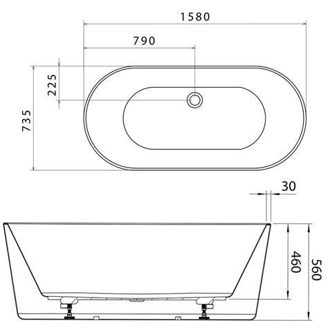 bathroom free standing acrylic bath tub spa bathtub ebay