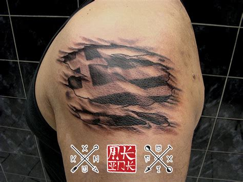 greek flag tattoo designs flag tattoos