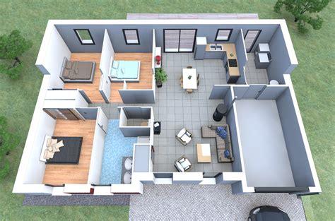 architecture maison 3d plan maison 90m2 3d