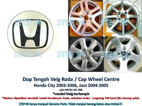 jual dop tengah velg roda honda jazz 2004 2005 cap wheel city 2003 2006 step in
