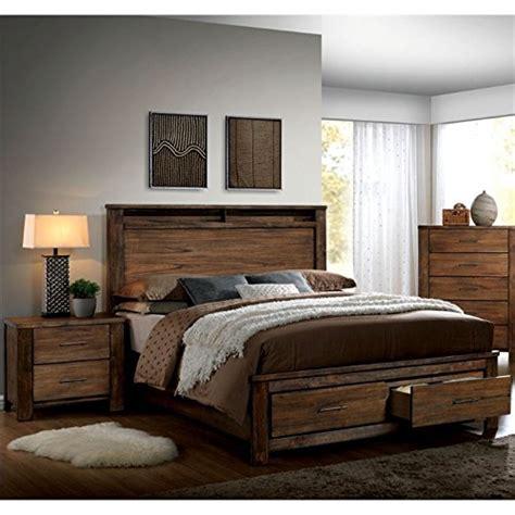 2 piece bedroom set furniture of america nangetti rustic 2 piece queen bedroom