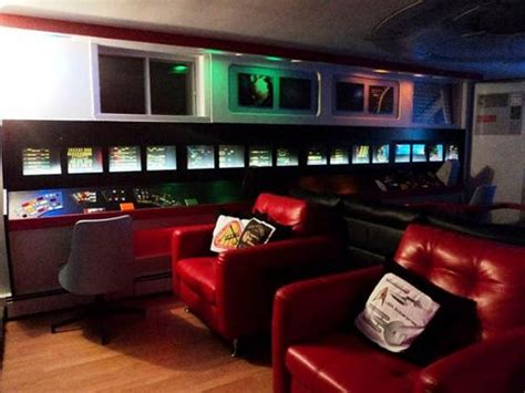 Trek Living Room by Trek Fangirl Spends 30k Converting House Into Shrine