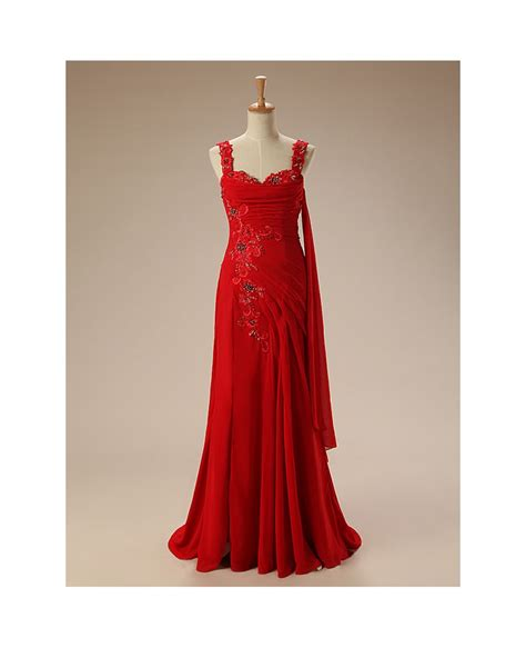 dress with beading a line sweetheart sweep chiffon prom dress with