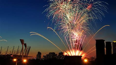 new year in perth melbourne arts centre set ablaze during fireworks perth now