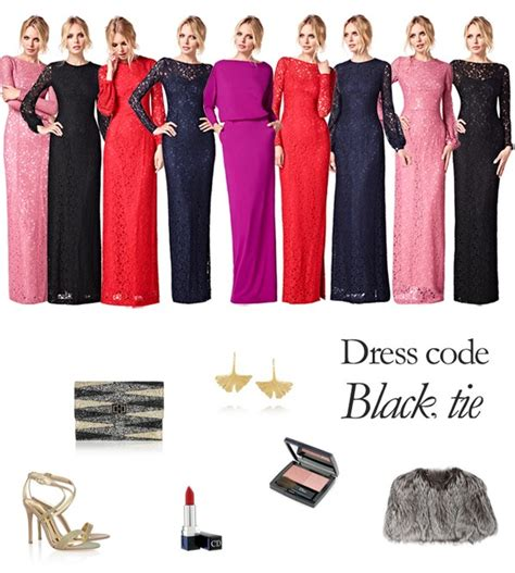 wear a evening gown for a black tie evening event