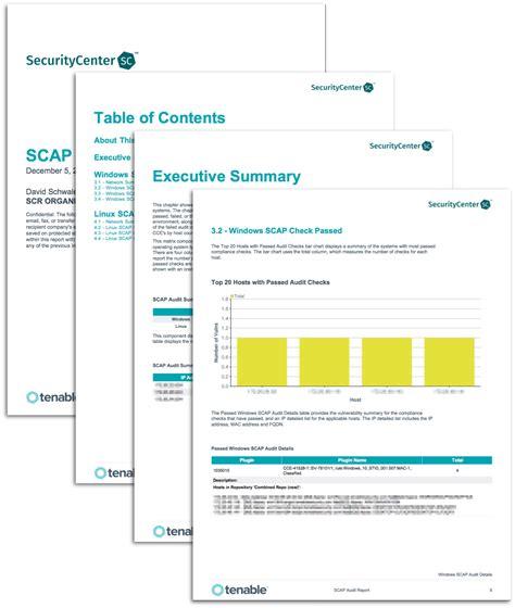 network audit report template scap audit report sc report template tenable