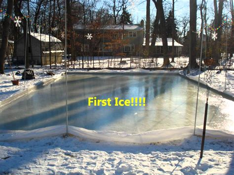 Building A Backyard Ice Rink Outdoor Furniture Design How To Make Rink In Backyard