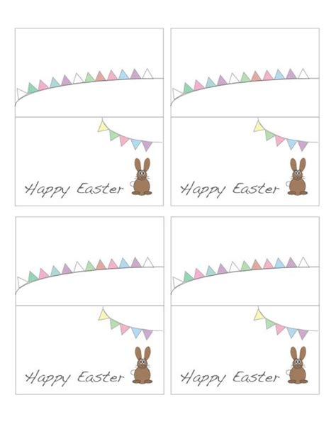 Free Easter Card Templates To Print by Free Printable Easter Place Cards Places