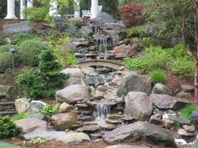 waterfall backyard waterfall landscaping waterfalls