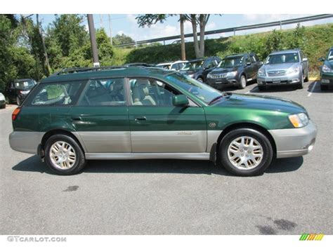 green subaru outback timberline green 2002 subaru outback 3 0 l l bean edition