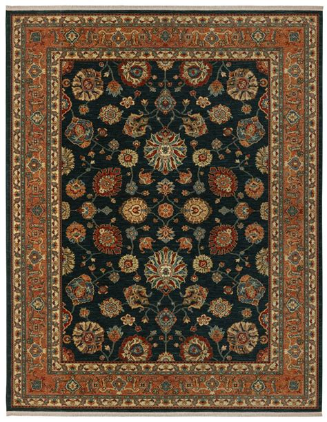 Karastan Rugs by Rugstudio Presents Karastan Sovereign Sultana Navy Machine