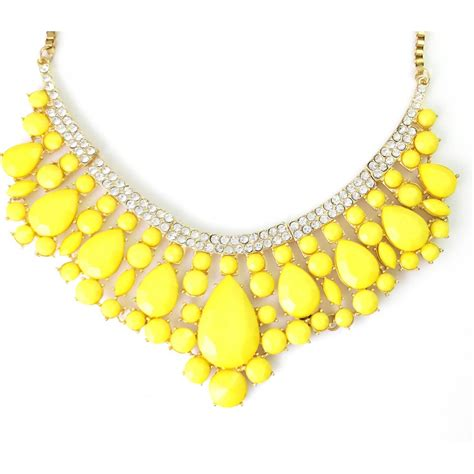 Yellow Neckles neon yellow teardrop cluster pave collar