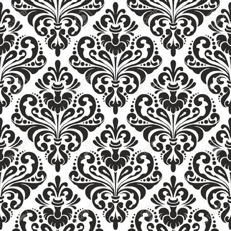 wallpaper design pattern vector black and white seamless damask wallpaper pattern royalty