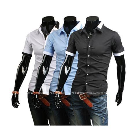 Kemeja Slimfit Pria Batik Lengan Pendek Fashionable Branded jual kemeja pria lengan pendek terbaru