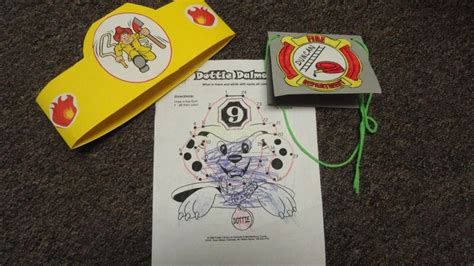 fireman craftshats coloring page badge fire safety