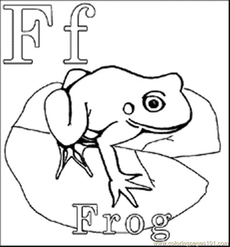 F Frog Coloring Page by Frog In The Pond Colouring Pages