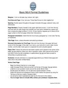 Essay Guidelines by Mla Format Guidelines