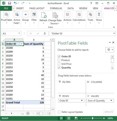 Pivot Tables In Excel 2013 by Ms Excel 2013 How To Create A Pivot Table