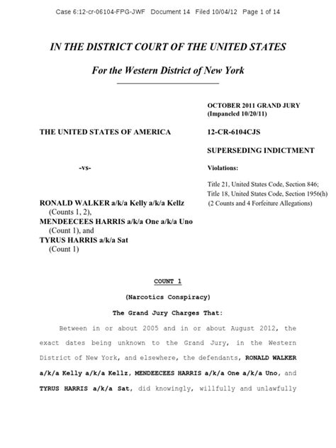 Title 21 United States Code Section 846 by Mendeecees Harris Indictment