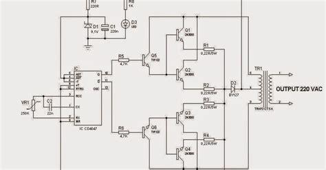 blog teknik vokasi merakit rangkaian inverter  watt