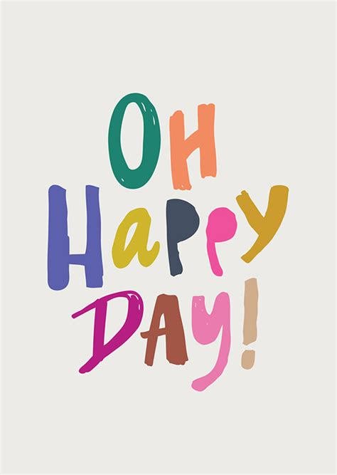 Happy Day oh happy day print babasouk