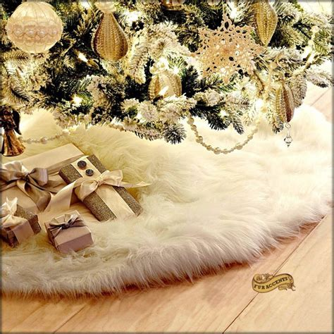 white furry fluffy christmas trees 30 most colorful and shiny tree skirts home designing