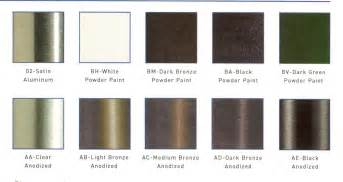 anodized aluminum colors bronze anodized aluminum colors chart search results