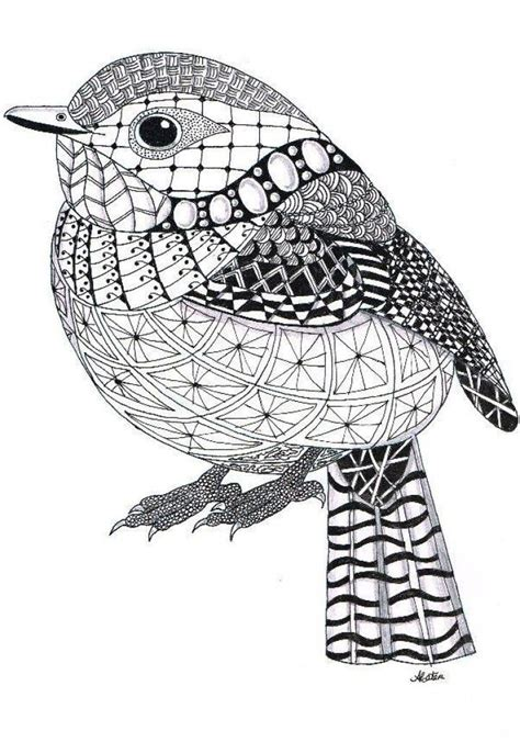 pattern drawing bird zentangle bird zentangle pinterest bird