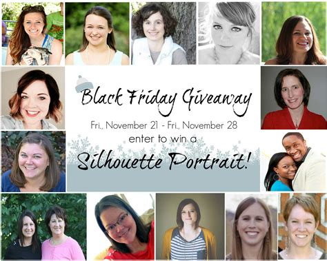 Silhouette Giveaway - black friday silhouette giveaway persia lou