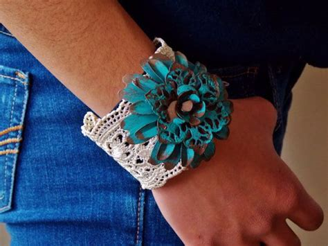 One Size Fits Most Bracelet shabby chic cuff bracelet one size fits most by
