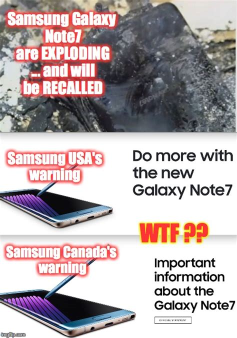 Samsung Meme - exploding samsung galaxy note7 imgflip