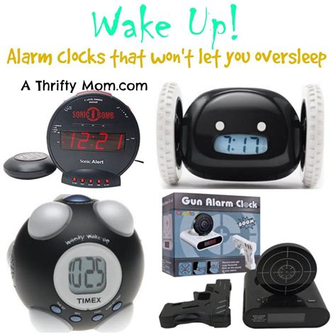 Alarm Clock To Up Sleepers by Alarm Clocks That Won T Let You Or Your Oversleep