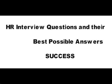 Questions And Answers For Mba Hr Freshers by Hr Questions And Answers For Freshers