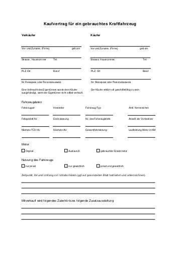 Kaufvertrag Motorrad Uniqa by Kaufvertrag F 252 R Ein Gebrauchtes Kraftfahrzeug