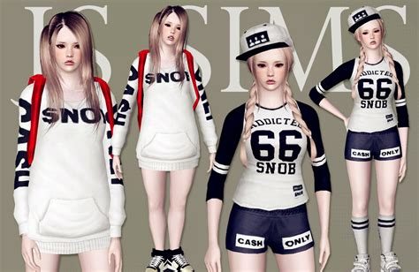 sims 3 outfits js sims 3 snob clothing set