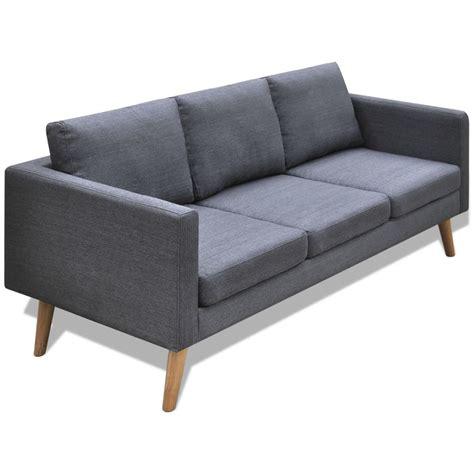 divano 3 posti tessuto articoli per divano in tessuto a 3 posti grigio scuro