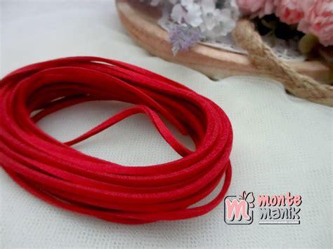 Bahan Baku Aksesoris Craft Murah Bunga Mawar Satin tali suede merah tlc 018 montemanik pusat bahan dan