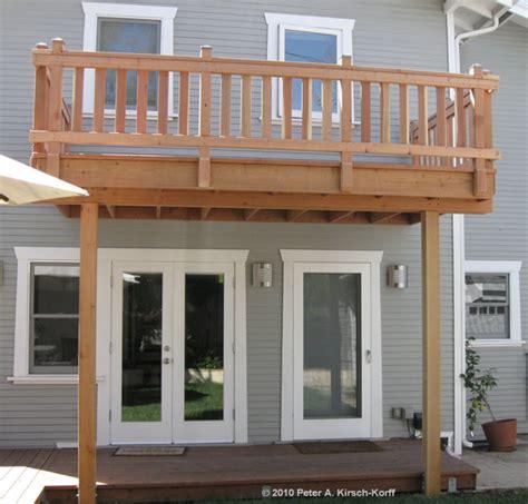 2nd Floor Balcony Plans 2 story deck designs los angeles wood decks amp composite