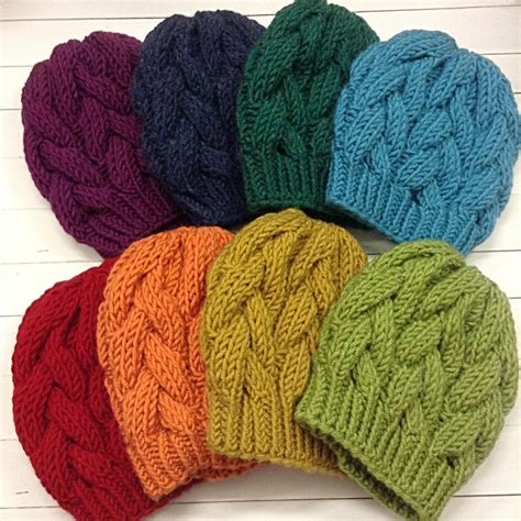 knitting pattern bulky yarn hat instant download cable beanie knitting pattern knit hat