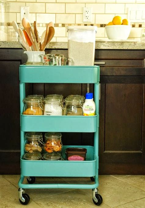 ikea blue rolling cart ikea bar cart spices storage home decorating trends